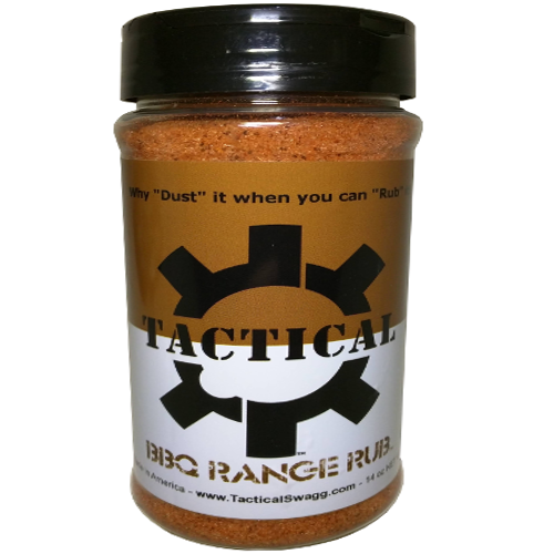Tactical Swagg BBQ RANGE RUB Dry Meat Rub Seasoning Spice Grill Mix, 14oz Bottle-Accessories-Tactical Swagg