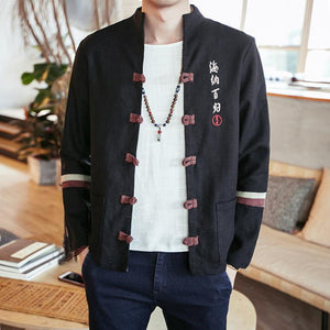 Embroidered Cotton Bomber Jacket - Ommicron Swiss
