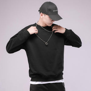 Mens Round Neck Casual Pullover - Ommicron Swiss