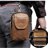 6 Inch Leather Belt Bag
