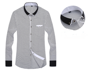Men Fashion Casual Long Sleeved Shirt