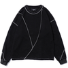 Men's Black Stitching Sweater - Ommicron Swiss