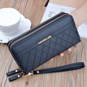 Double Zipper Hand Purse Wallet