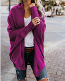 Women's Bat Sleeve Knit Cardigan Sweater - Ommicron Swiss
