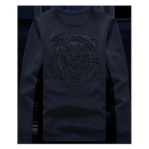 Lion Head Embossed Sweater - Ommicron Swiss
