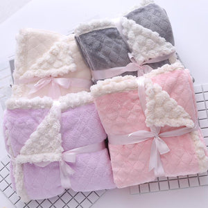 Flannel Plush Plaid Throw Blankets - Fluffy Fleece Blanket - Ommicron Swiss