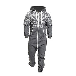 One-piece Garment Zipper Hoodie Jumpsuit - Ommicron Swiss