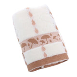 Sets of 2 Umbrella Luxury Cotton Soft Towels Best Bath Towels, Khaki - Ommicron Swiss