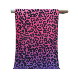 Fashionable Purple Leopard grain cotton Bath towel/Beach towels(76*160CM) - Ommicron Swiss