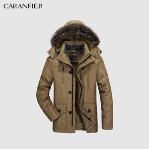 Winter Parkas Hooded Overcoat - Fashion Zipper Jacket