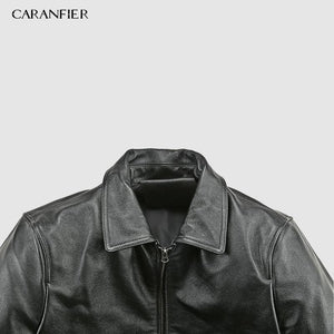 Men Genuine Leather Jacket - Ommicron Swiss