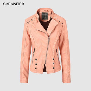 Leather Suede Zipper Jacket