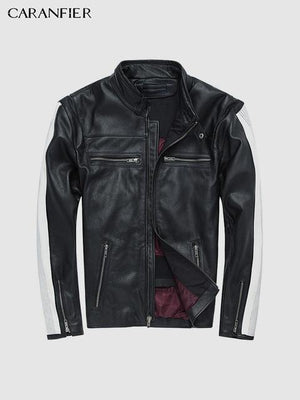 Cowhide Leather Mens Jackets - Ommicron Swiss