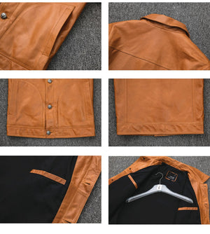 Streetwear Motorcycle Real Leather Jacket - Ommicron Swiss