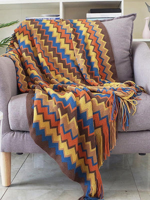 Retro Celebrity Style Tassel Blanket USA - Ommicron Swiss