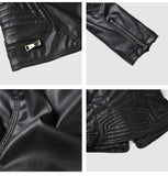 Ladies Suede Motorcycle Punk Biker Jackets - Ommicron Swiss