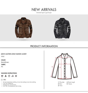 Mens Leather Jackets Soft PU Coats - Ommicron Swiss