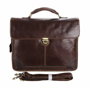 Guaranteed 100% Real Genuine Leather Men's Briefcase - Ommicron Swiss
