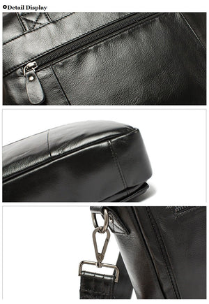 Vintage Designer Men's Real Leather Briefcase