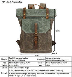 Rucksack Vintage Waterproof Backpack