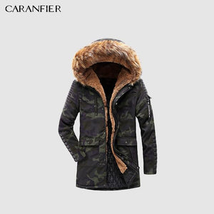Parkas Fashion Hooded Thicken Warm Overcoat - Pure Cotton