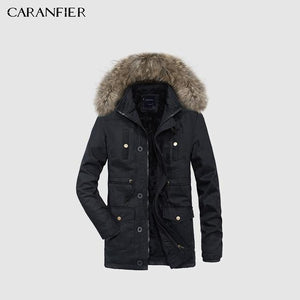 Winter Parkas Hooded - 100% Cotton Solid Coats - Wool Tie Hat