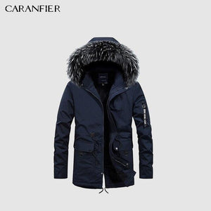 Parkas Men Cotton Coat - Cotton Hooded Padded Jacket