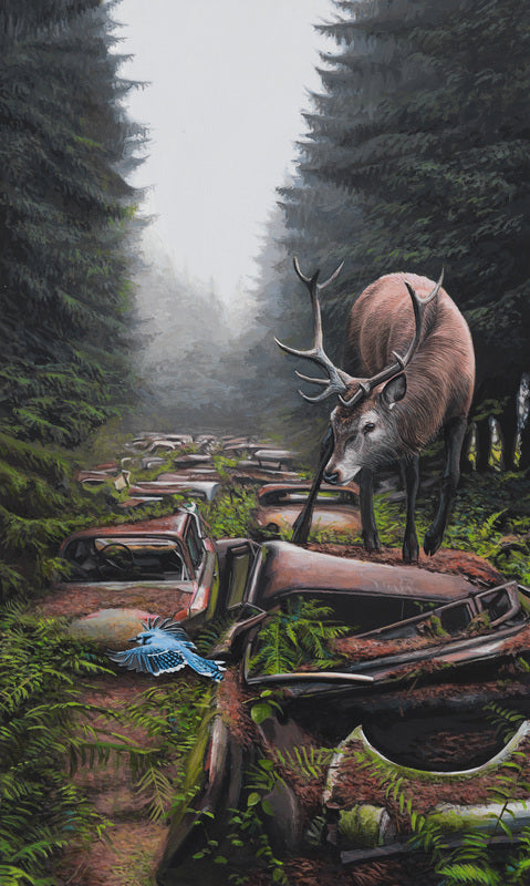 Josh Keyes - Red Road
