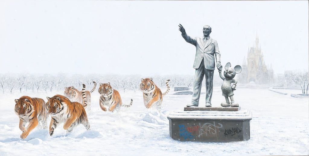 Limited Edition Print - A Whole New World by Josh Keyes