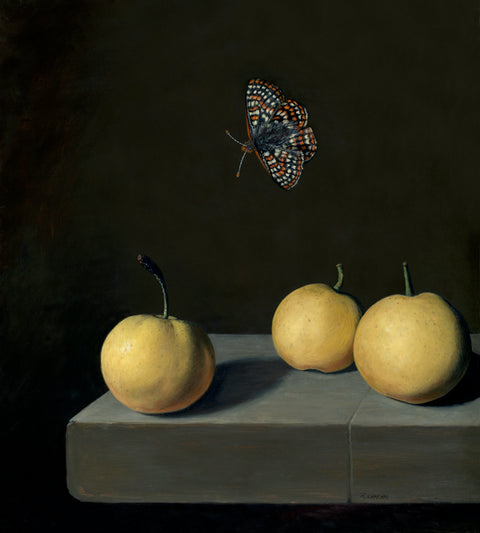 "Rebecca Luncan - ""Checkerspot over Nashi"""