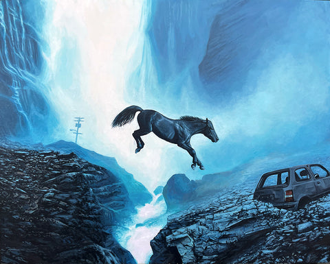 Josh Keyes - Crossing II