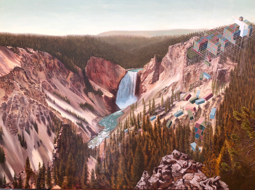Mary Iverson - Grand Canyon of the Yellowstone with Containers