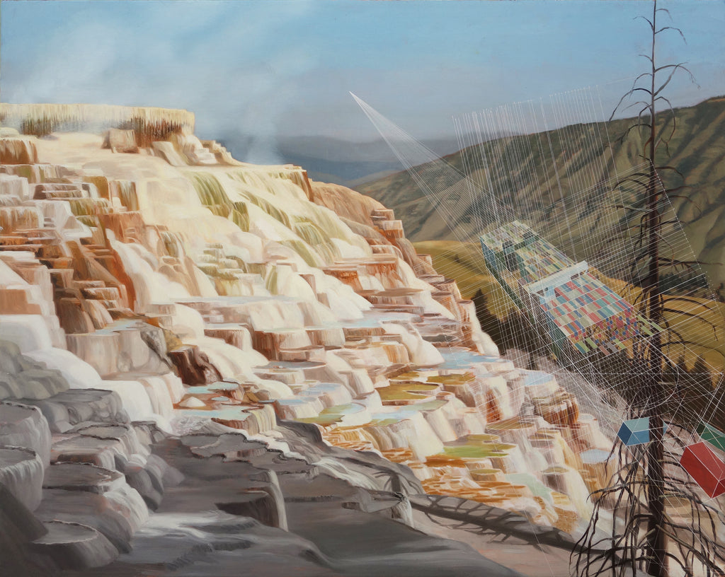 Mary Iverson - Shipwreck, Mammoth Hot Springs