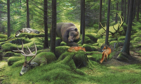 Josh Keyes - Sleeping Woods