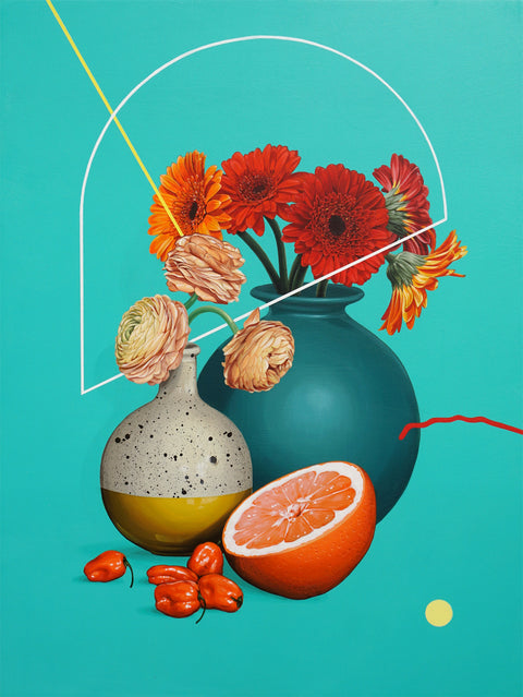 "David Rice - ""Still Life, Teal"""