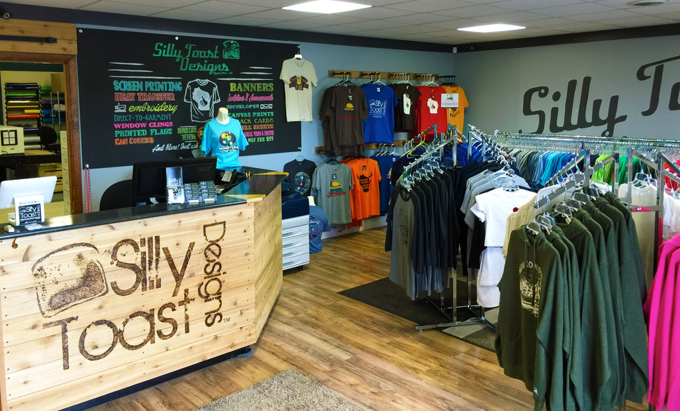 custom t-shirts-screen printing-embroidery-silly toast designs