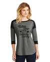 Saturday and Sunday - Ladies Heritage Blend 3/4-Sleeve Baseball Raglan Tee