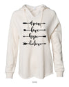 Dream-Love-Hope-Believe -  Women's Lightweight California Wavewash Hooded Pullover Sweatshirt