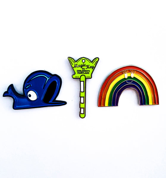 Children's Fairyland enamel pins