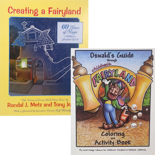 SALE! Fairyland History Book and Coloring Book Combo
