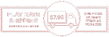 Flat Rate Shipping $7.95 - One price, as many items as you like!