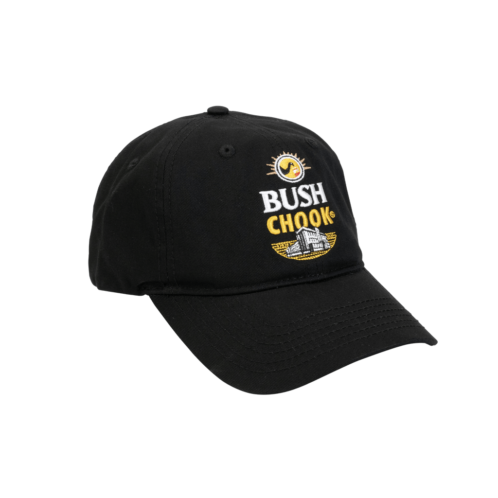 Bush Chook Dad Hat Black