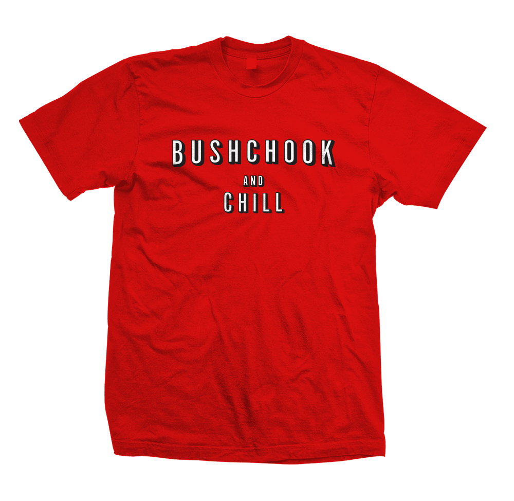 Bush Chook & Chill Tee Red