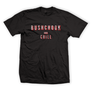 Bush Chook & Chill Tee Black