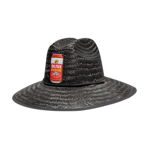 Bush Chook Black Can Straw Hat