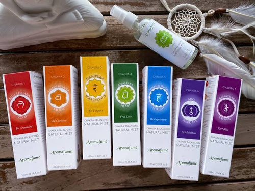 Set of 7 Chakra Balancing Mist Sprays