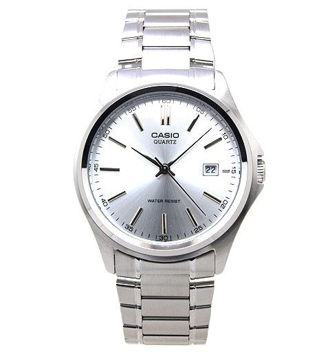 Casio Men s Analog Quartz Date Silver Tone Stainless Steel Watch MTP1183A- 7A - Kronocity