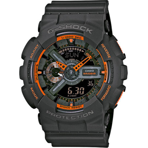 Casio Men's GA-110TS-1A4 G-Shock Analog-Digital Watch With Grey Resin Band - Kronocity