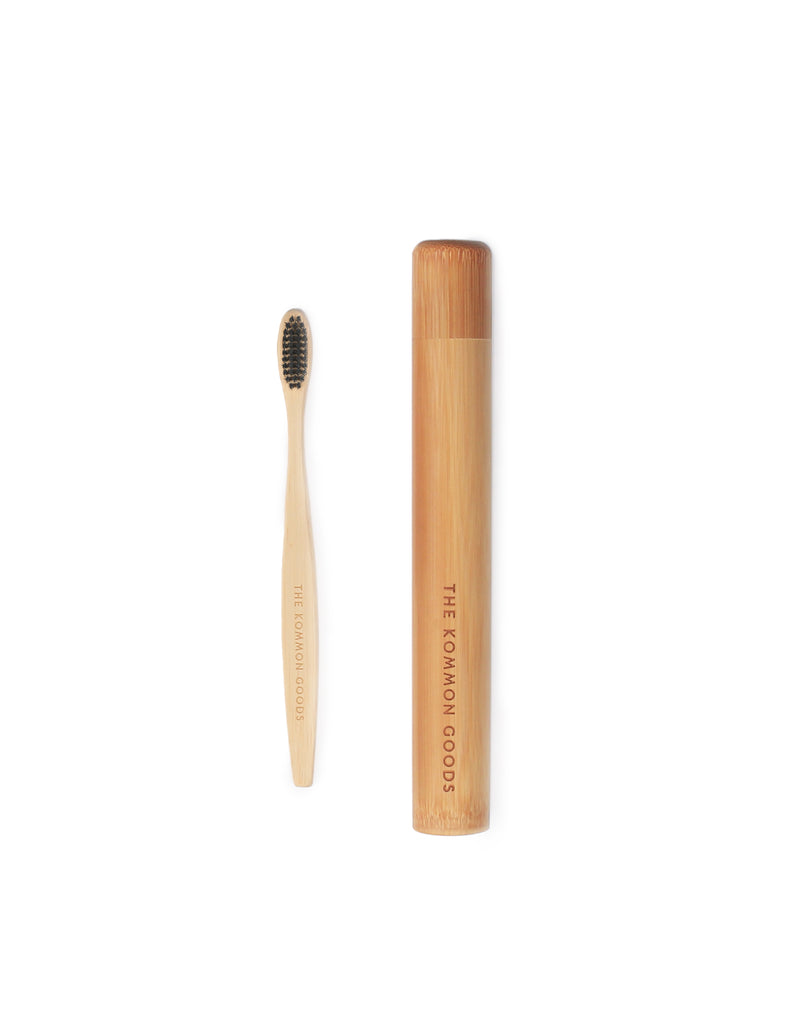 Bamboo Toothbrush in Bamboo Tube