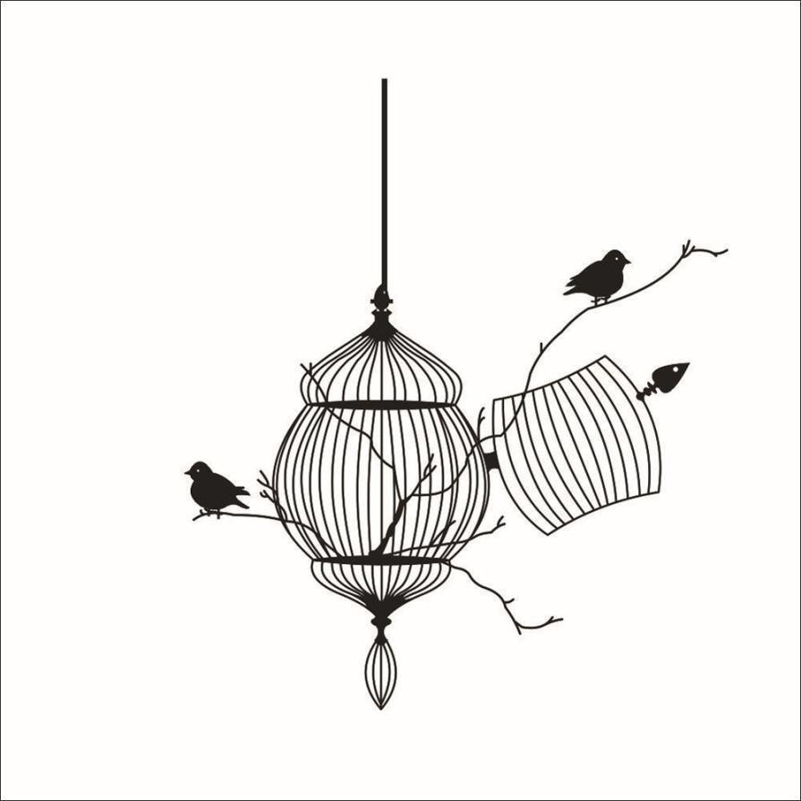 New Design Birdcage Chinese Style Wall Art - smarttrendstore